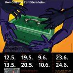 "Plakat BAT Ensemble Carl Sternheim ""Die Kassette"""